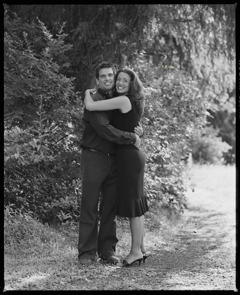 engagement portrait in black and white