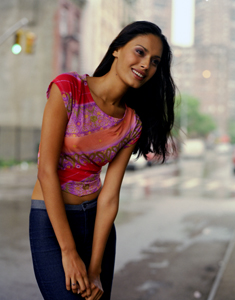 indian supermodel Ujjwala Raut in a fashion photograph by Steve Landis shot in New  York City